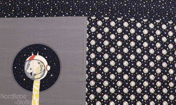 Jersey Panel ~ Giraffe Grau (5)
