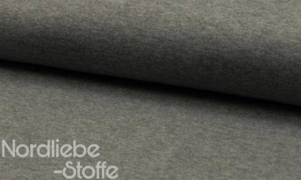 Bündchen Feinripp ~ MELANGE Grau