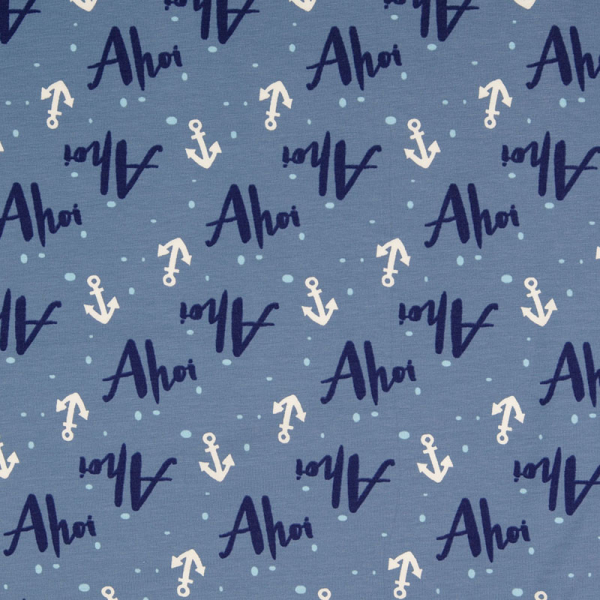 Jersey ~ Ahoi & Anker Jeansblau