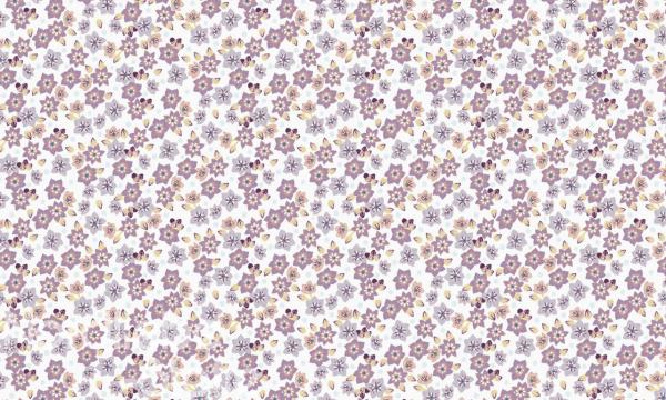 ORGANIC Baumwolle ~ Blümchen flieder gelb