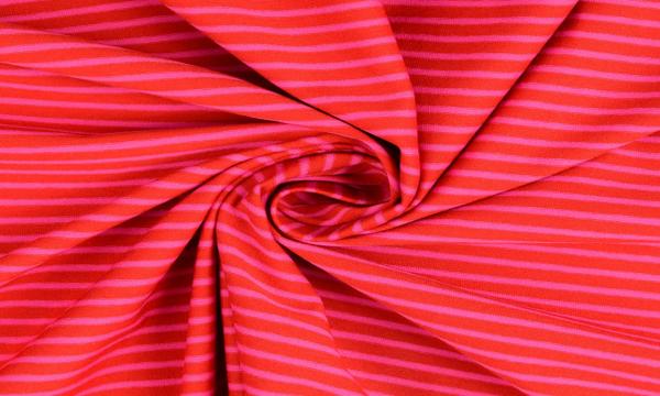 Jersey ~ Streifen auf Rot
