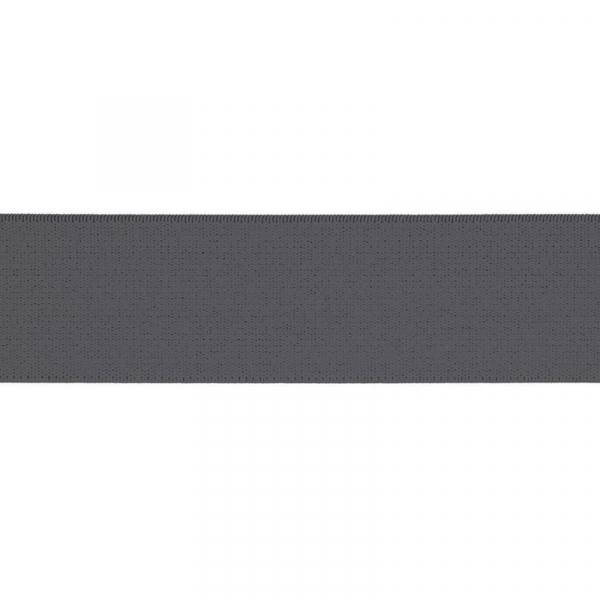 Gummiband elastisch 40 mm ~ UNI Grau