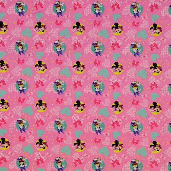 Lizenz Walt Disney Baumwolle ~ Minnie Mouse & Daisy Duck auf Pink