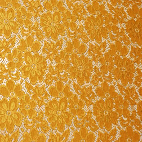 Spitze ~ elastisch mit Blumen Sonnenblumengelb