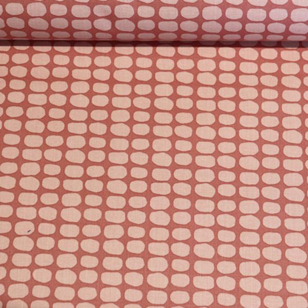 beschichtete Baumwolle ~ Kreise auf Nude