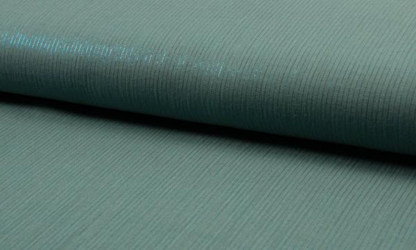 Musselin ~ Lurex Streifen auf Dark Oldgreen