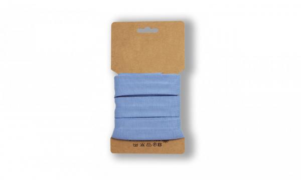 3 Meter Jersey Schrägband BABY Blau 20mm
