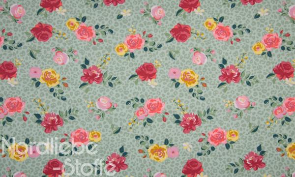 Jersey ~ Rosen auf mint Leomuster