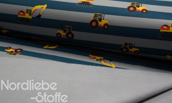Softshell ~ Baufahrzeuge oliv grau