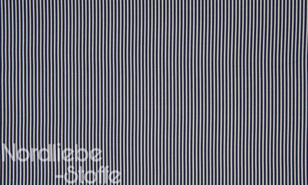 Baumwolle ~ zarte Streifen Navy Weiß 0,33 m LETZTES Stück