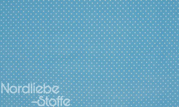 Jersey ~ Kleine Punkte Blau