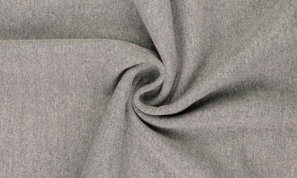 Bündchen Feinripp ~ MELANGE Dunkel Grau