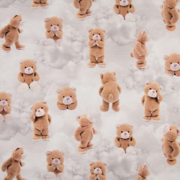 Digital Jersey ~ Teddy Bär auf Wolken