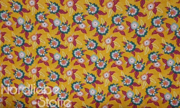 GOTS Organic Baumwolle ~ Blumenblüten Orange