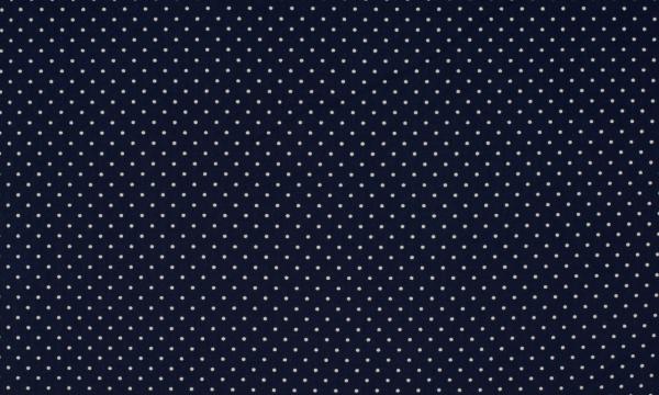 Baumwolle ~ kleine Punkte Navy Weiß