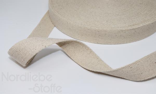 Baumwoll Gurtband 30mm natur