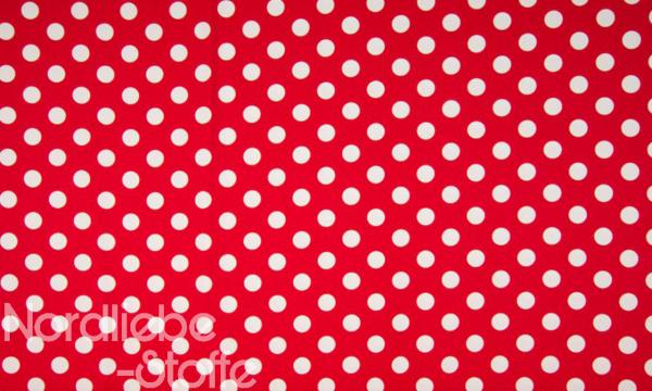 Jersey ~ große Punkte Rot Weiß