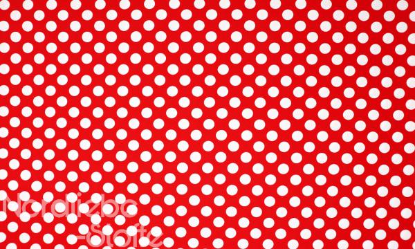 Baumwolle Mischgewebe Weiße Punkte auf Rot