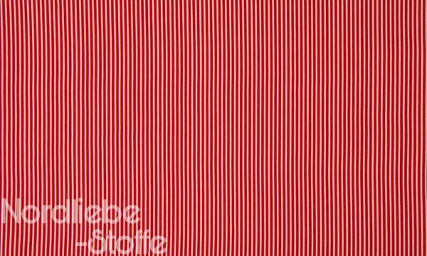 Baumwolle ~ zarte Streifen Rot