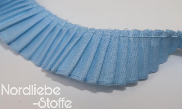 Rüschenband 28mm hellblau