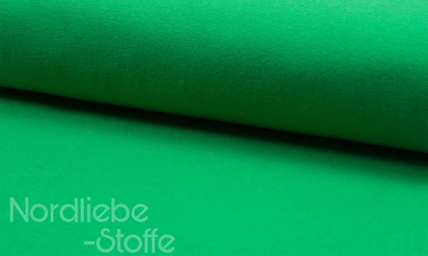 Bündchen Feinripp ~ UNI Grasgrün