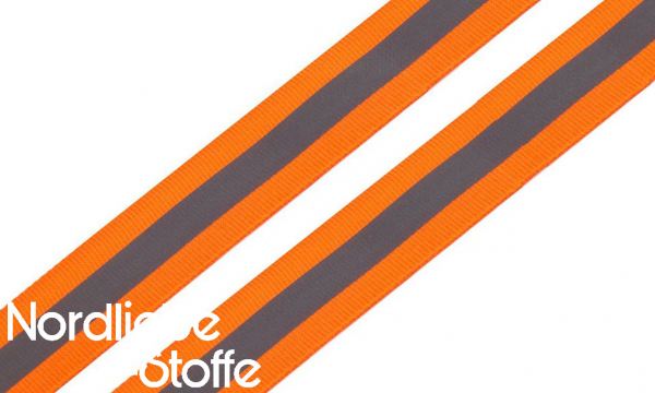 Reflex- / Reflektorband NEON orange 25mm