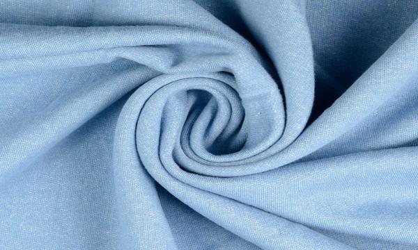 Kuschelsweat ~ Jeansoptik Hellblau Melange