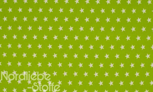 Baumwolle ~ Sterne auf Lime