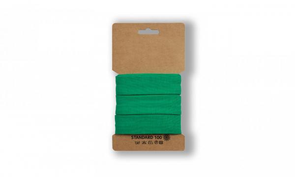 3 Meter Jersey Schrägband Grasgrün 20mm