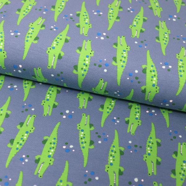 Jersey ~ Krokodile auf Blau