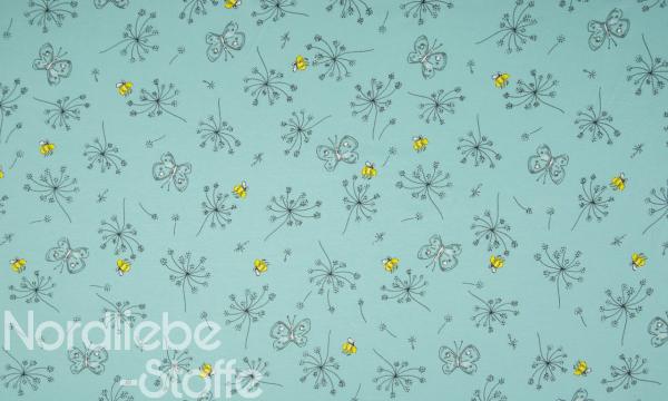 Jersey ~ Blumen & Bienen Mint