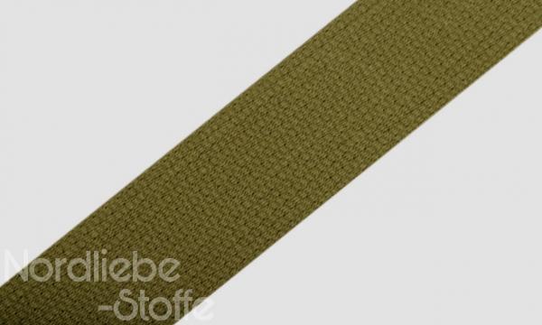 Baumwoll Gurtband 30mm Khaki