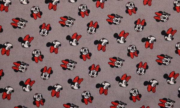 Lizenz Walt Disney Baumwolle ~ Minnie Mouse mit roter Schleife