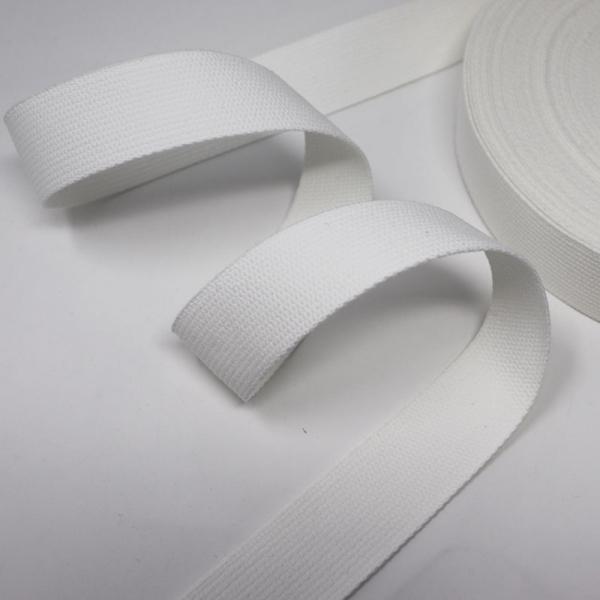 Baumwoll Gurtband 30mm weiß