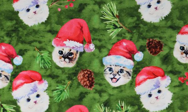 Digital Jersey ~ Weihnachts Katzen