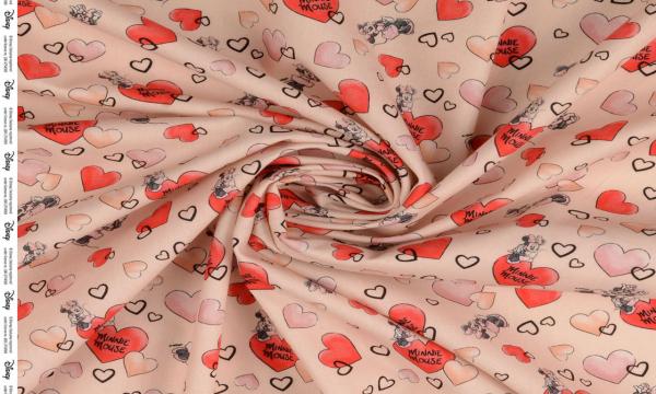 Lizenz Walt Disney Baumwolle ~ Minnie Mouse in LOVE