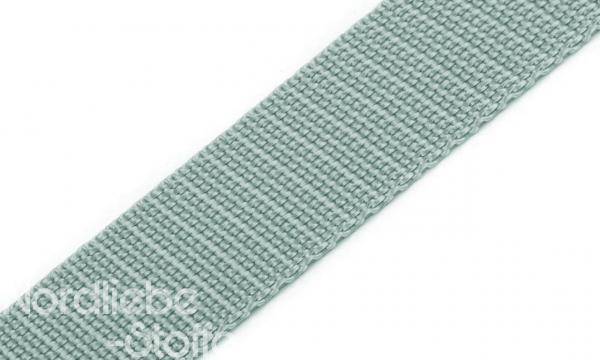 PP Gurtband 25mm Silbergrau