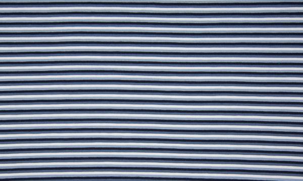 Jersey ~ Streifen 4er Blau