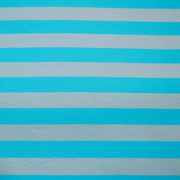 Jersey ~ breite Streifen Blau Grau