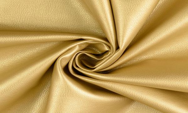 Kunstleder ~ schimmernd Gold
