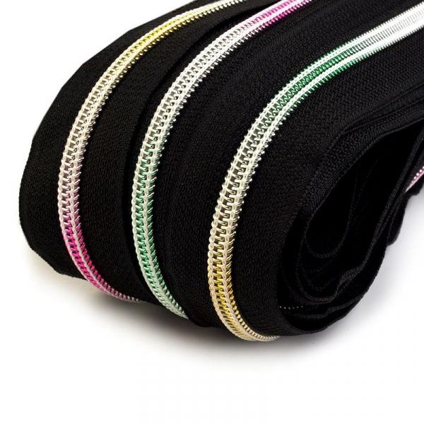 Endlosreißverschluss 6mm Regenbogen incl. Zipper
