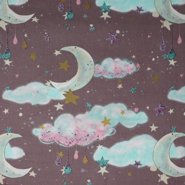 Baumwolle ~ Mond & Sterne