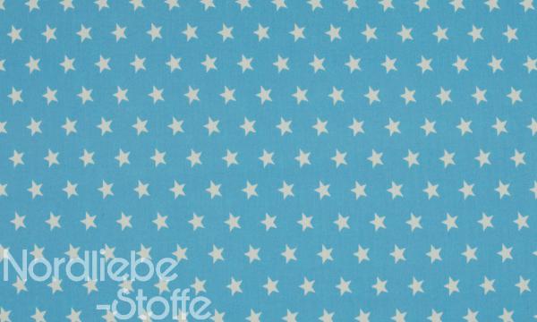 Baumwolle ~ Sterne auf Hellblau