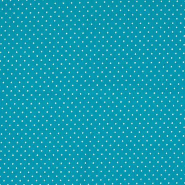 Jersey ~ Kleine Punkte Aqua