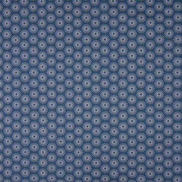 Jersey ~ Blumen auf Jeansblau
