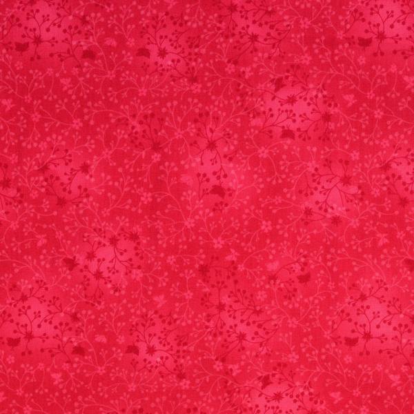Baumwolle ~ India Blumen Batik Pink