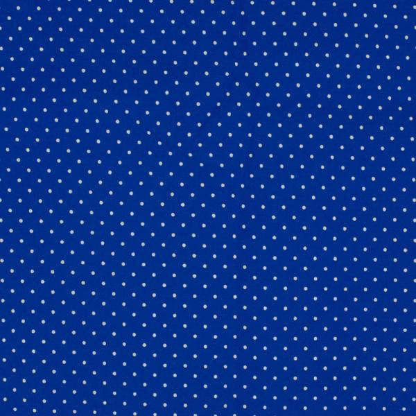Baumwolle ~ kleine weiße Punkte auf Royalblau