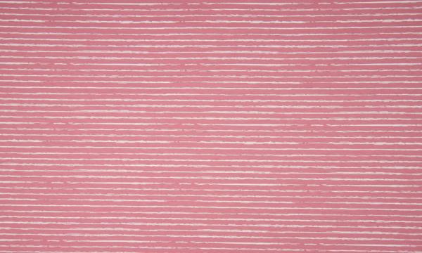 Jersey ~ Stripe Altrosa Weiß