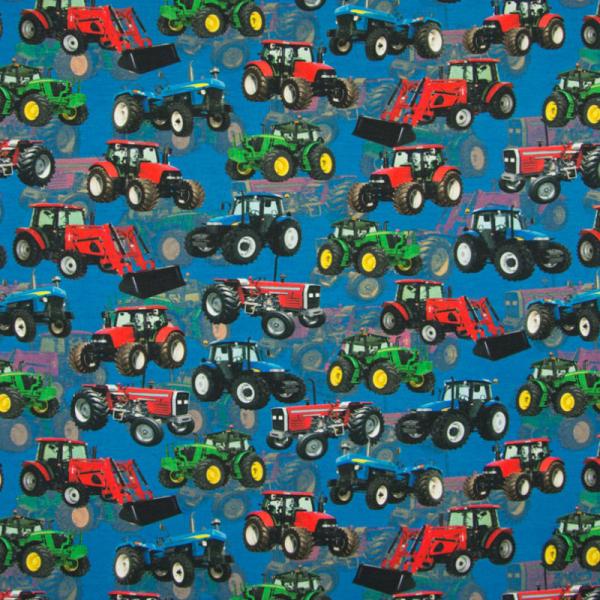 Digital Jersey ~ Traktor auf Blau