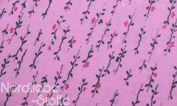 Jersey ~ Mini Blüten auf Light Pink